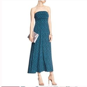 NWT Banana Republic Blue Strapless Maxi Dress